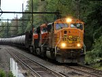 BNSF 9850 leading CSX oil train K138